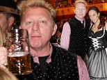 Slam drunk! Boris Becker and wife Lilly don traditional dress as they get stuck in at Oktoberfest