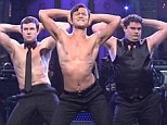 Giving them the Full Monty! Joseph Gordon-Levitt strips to his briefs in Saturday Night Live Magic Mike spoof