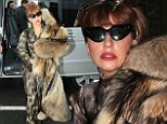 Lady Gaga is spotted arriving at Le Bourget airport to take a private jet