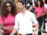 September affair: Serena Williams enjoyed her shopping spree in Milan, Italy with tennis coach-boyfriend Patrick Mouratoglou on September 23