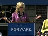 When size matters: 'I've seen Joe up close,' Mrs Biden said, making a wide motion with her hands