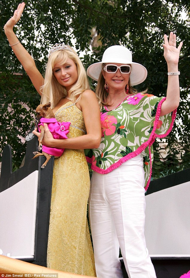 Longtime support: Paris and her mother Kathy attended the West Hollywood Gay Pride Parade in 2005