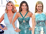 Blue belles! Sofia Vergara, Heidi Klum and Nicole Kidman lead the glamour parade at Emmy Awards