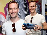 Daddy's day off: James Van Der Beek attends the Presenters Gift Lounge at the Nokie Theatre Emmy Awards