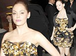 Milan Fashion Week: Rose McGowan stepped out for the Dolce & Gabbana boutique opening on Sunday