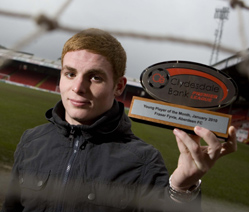 Fraser Fyvie Clydesdale Bank Premier League Young Player of the Month for January