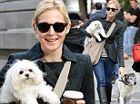 Back to work: Kelly Rutherford arrived on the set of Gossip Girl in New York City today