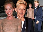 Ellen DeGeneres and Portia de Rossi look a little worse for wear as they exit restaurant after post-Emmys dinner date