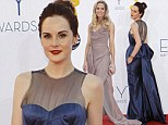 Downton Abbey's Michelle Dockery and Joanne Froggatt miss out on Emmy awards but top best dressed list in stunning gowns