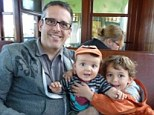 Playing favourites: Buzz Bishop, a Canadian radio host and 'daddy blogger' (pictured) wrote a post titled Admit It,You Have A Favorite Kid. I Do, which has sparked a backlash from parents