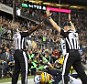 Says it all: Two replacement referees came up with two opposite calls after Seattle Seahawks receiver made a catch in the end zone Monday night. Most observers say a Green Bay defender had the ball first