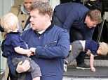 James Corden and his 18-month-old son Max