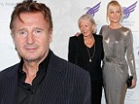 Poignant reunion: Liam Neeson attends Redgrave tribute show with family of his late wife Natasha Richardson
