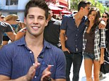 Glee's new heartthrob Dean Geyer goes on romantic stroll with girlfriend Jillian Murray at the Grove