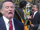 Robin Williams film a vehicular accident scene for his new movie