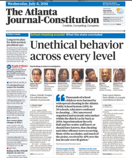 AJC Front Page