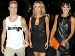 Derek Hough, Kym Johnson and Karina Smirnoff arriving at Mixology 101 in Los Angeles