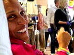 Showing up to work: Robin Roberts invited 'Good Morning America' camera into her hospital room to follow her progress during a bone marrow transplant