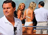 Leonardo DiCaprio courts two hot blondes on a yacht on location