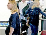 Casual: Claire Danes was spotted at LAX on Tuesday