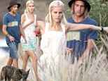 Isabel Lucas and mystery man