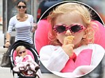 Sweet: TV personality Bethenny Frankel and daughter Bryn stroll in New York on Wednesday