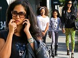 Window shopping only girls! Kimora Lee Simmons takes daughters to the upscale Beverly Hills stores... but they emerge empty handed