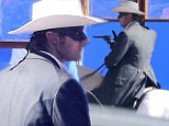 Armie Hammer returns to The Lone Ranger set just days after the sudden death of a crew member