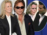 Flashback to 1986! Kim Basinger wears lookalike tuxedo from 9½ Weeks as she joins co-star Mickey Rourke at premiere of their new film
