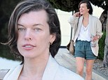 Milla Jovovich leaving the Chanel store in Beverly Hills