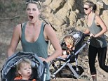 Ali Larter took her son Theodore out for a stroll to Runyon Canyon in Los Angeles