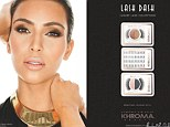 Flawless face: Kim, 31, announced their forthcoming beauty range titled Khroma Beauty in June - an 'affordable' line featuring false eyelashes, a 'suite' of mascaras and 'Kardazzle Compacts'