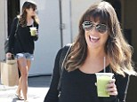 Not short of confidence! Lea Michele shows off enviable legs in denim hotpants