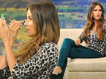 Ready for her close-up! Sofia Vergara ensures she is picture perfect as she does her own make-up before TV appearance