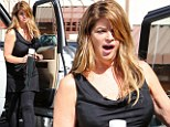 A weary looking Kirstie Alley yawns as she arrives at Dancing with the Stars rehearsal