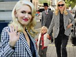 A model mother! Cheerful Gwen Stefani brightens up London as she takes son Zuma for a stroll