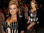 Sizzling: Carmen Electra was a show-stopper in bustier and corset at the 90210 100th episode celebration