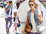 Like mother like daughter: Jessica Alba and daughter, Honor, 4, share a passion for crazy patterns