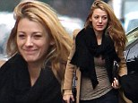 She's certainly got that newlywed glow: Make-up free Blake Lively arrives on the set of Gossip Girl wearing her new wedding ring
