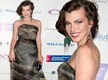 Ssssensational! Resident Evil star Milla Jovovich steals the show at New York gala by donning snakeskin print dress