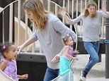 Her little sunshine! Grey's Anatomy star Ellen Pompeo's day is brightens up her day by taking daughter to the park