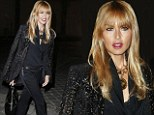 Rachel Zoe at the Lanvin fashion show ready-to-wear S/S 2013 in Paris