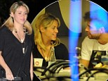 Can't take my eyes off you: Pregnant Shakira gazes at boyfriend Gerard Piqué over romantic meal
