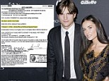 So they were married after all! Document solves riddle of whether Ashton Kutcher and Demi Moore were legally man and wife