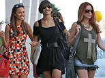 Wasting no time getting their sunshine style on! The Saturdays show off their flesh in flirty outfits less than 24 hours after jetting in to LA