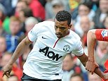Bust up: Nani is believed to have struck United team-mate Davide Petrucci