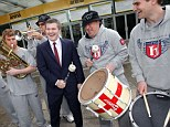 Banging his own drum: Ricky Hatton returns to the ring on November 24 in Manchester