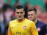 Glad: Arsene Wenger said he was ready to sell Vito Mannone (left)
