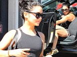 Vanessa Hudgens leaves her Piloxing class in a dash after having spent some time on her muscle sculpting workout