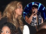 Queen Beyonce looks on with pride as her husband Jay-Z is crowned King of Brooklyn at his sold out concert